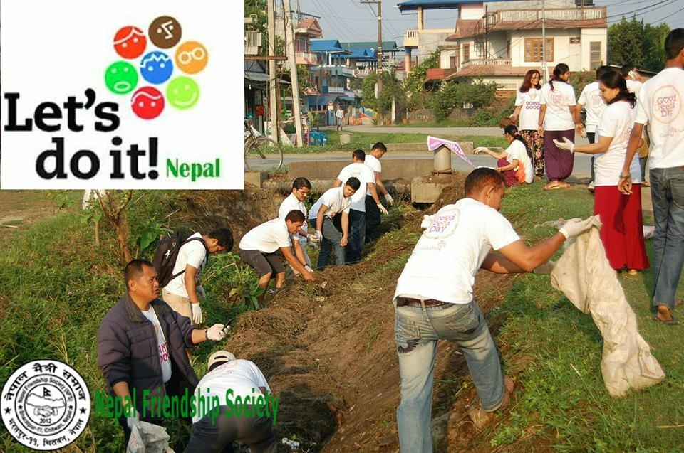 Cleanup at chitwan,Nepal.